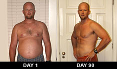 P90X Success Story Day 1 and Day 90 Photos - Matt B.